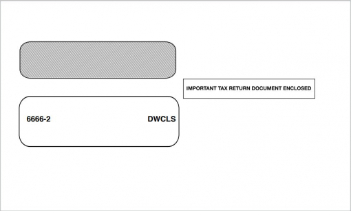 W2 Envelope for 2up W2 Forms - DiscountTaxForms.com