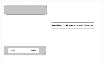 """W2 Envelope 4up V2 Horizontal Format W2 Forms, Moisture Seal Flap, """"Important Tax Return Document Enclosed"""" - DiscountTaxForms.com"""