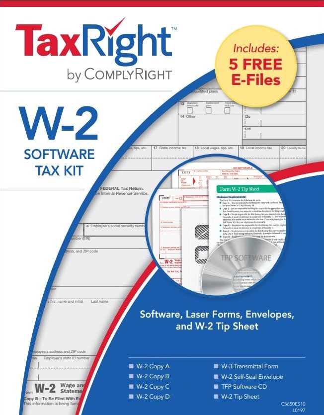 W2 Software, Efiling, Forms and Envelopes Kit - DiscountTaxForms.com