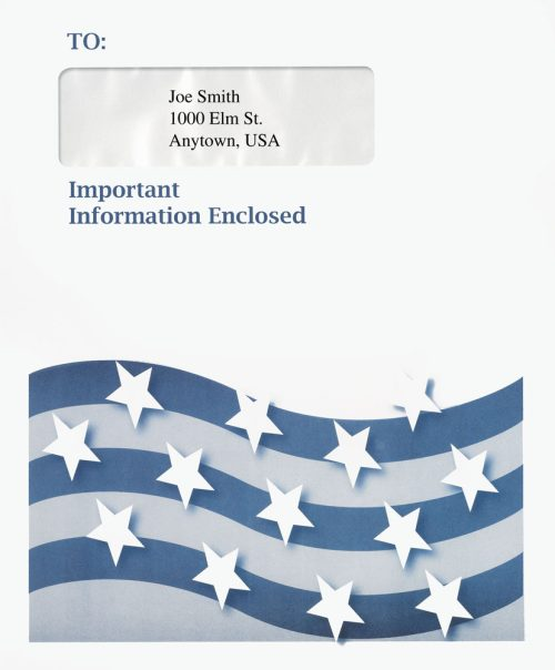 1040 Tax Envelopes with Stars and Bars for Accountants and CPAs - DiscountTaxForms.com