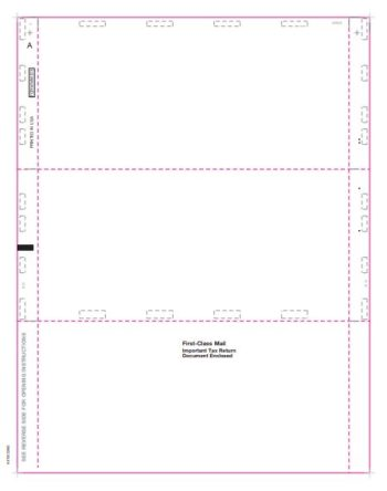 Blank Pressure Seal Paper for 1099 Forms 11″