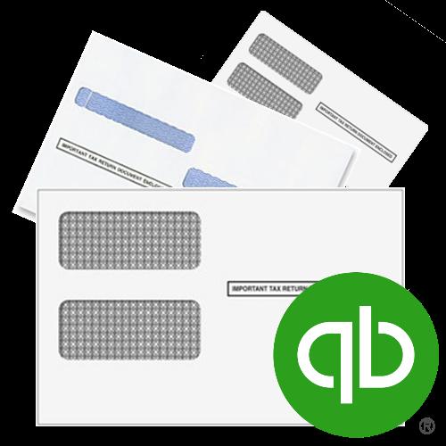 Envelopes for QuickBooks Checks and Forms, including 1099 and W2 forms - DiscountTaxForms.com