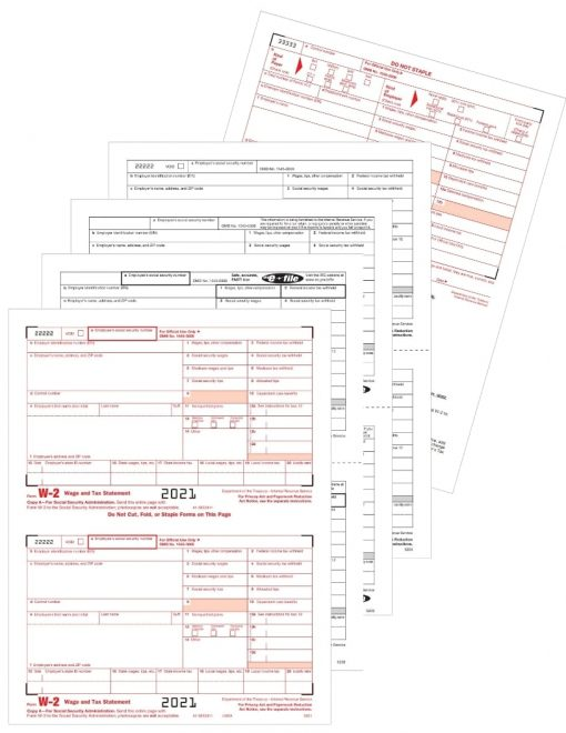 W2 Tax Form Sets for 2021 at Discount Prices - DiscountTaxForms.com