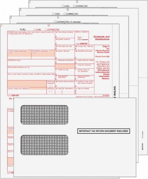 1099DIV Forms Envelopes Set - DiscountTaxForms.com
