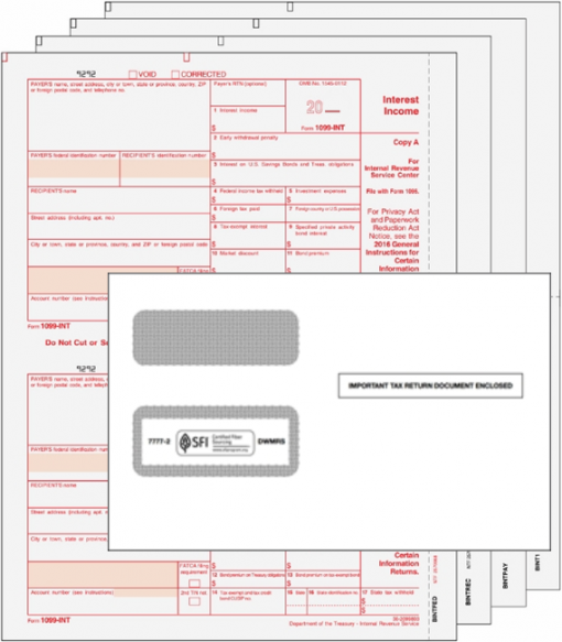 1099INT Forms and Envelopes Set - DiscountTaxForms.com