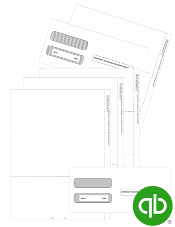 QuickBooks Compatible W2 Tax Forms Set with Envelopes, 3up Format at Discount Prices - DiscountTaxForms.com