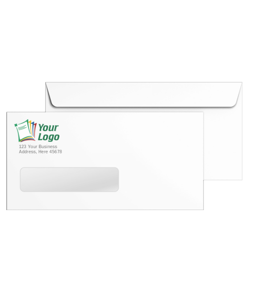 Custom #10 Envelopes with Logo and Window - DiscountTaxForms.com