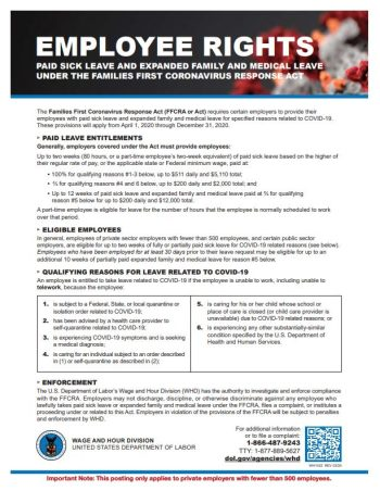 Employee Rights for COVID19 Family and Medical Leave Downloadable PDF English - DiscountTaxForms.com