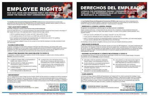 Employee Rights Poster COVID19 Coronavirus - DiscountTaxForms.com