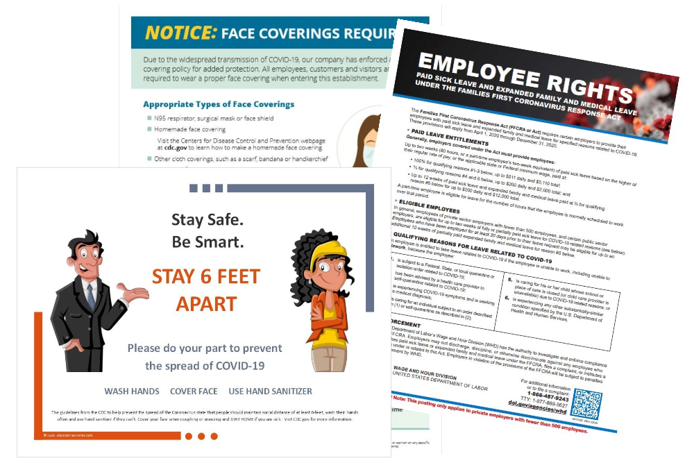 Signs and Posters for COVID-19 Coronavirus Safety - DiscountTaxForms.com