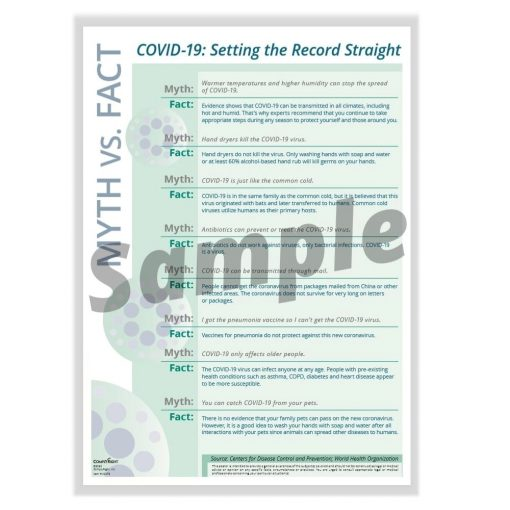 COVID Myth vs Fact Sign N0079 - DiscountTaxForms.com