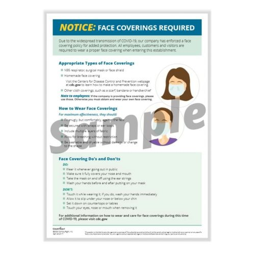Face Masks Required Sign with Details N0117 - DiscountTaxForms.com