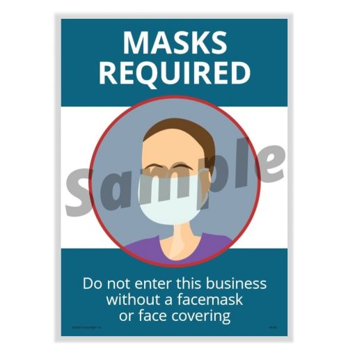 Masks Required Poster for COVID-19, Laminated N0120 - DiscountTaxForms.com