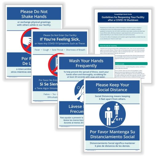 COVID Sign Bundle for Offices and Employees N0123 - DiscountTaxForms.com