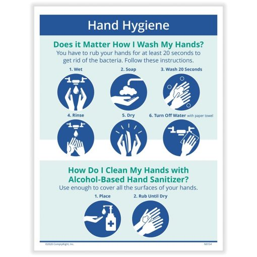 Hand Hygiene Sign for COVID N0137 - DiscountTaxForms.com