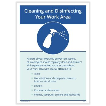 Clean Work Area Sign for COVID19 N0139 - DiscountTaxForms.com