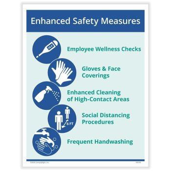 Workplace Safety Measures Sign for COVID N0162 - DiscountTaxForms.com