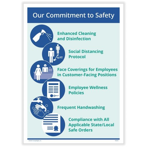 Commitment to Safety Sign for COVID Coronavirus N0267 - DiscountTaxForms.com