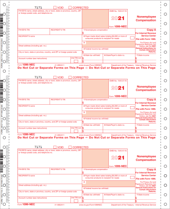 1099NEC Forms, Continuous Carbonless Format - DiscountTaxForms.com