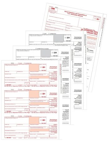 1099-NEC Tax Form Sets for Non-Employee Compensation 2021 - DiscountTaxForms.com