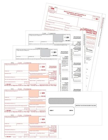 1099-NEC Tax Forms and Envelopes for 2021 Reporting of Non-Employee Compensation - DiscountTaxForms.com