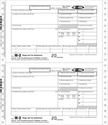 W2 Continuous Carbonless Forms for Businesses who Efile - DiscountTaxForms.com