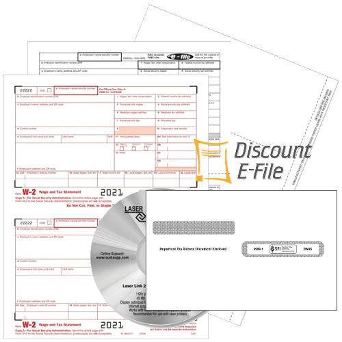 W2 Forms and Envelopes for 2021, W2 Software and W2 Efiling for Small Business - DiscountTaxforms.com