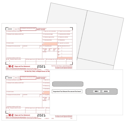 W2 Tax Forms, Envelopes and E-file for 2021 - Official forms at Discount Prices - DiscountTaxForms.com