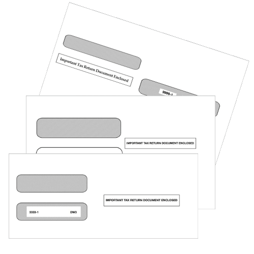 """W2 Envelopes for Mailing Employee W2 Tax Forms, Security Tint, """"Important Tax Return Document Enclosed"""" - DiscountTaxForms.com"""