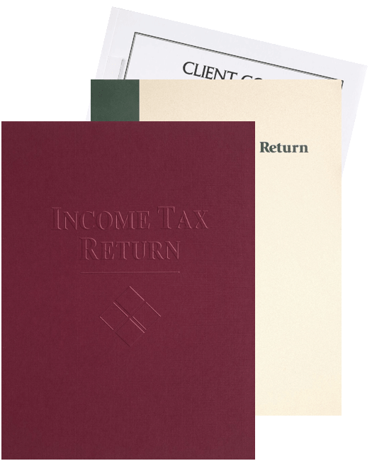 Tax Return Presentation Folders at Discount Prices - DiscountTaxForms.com