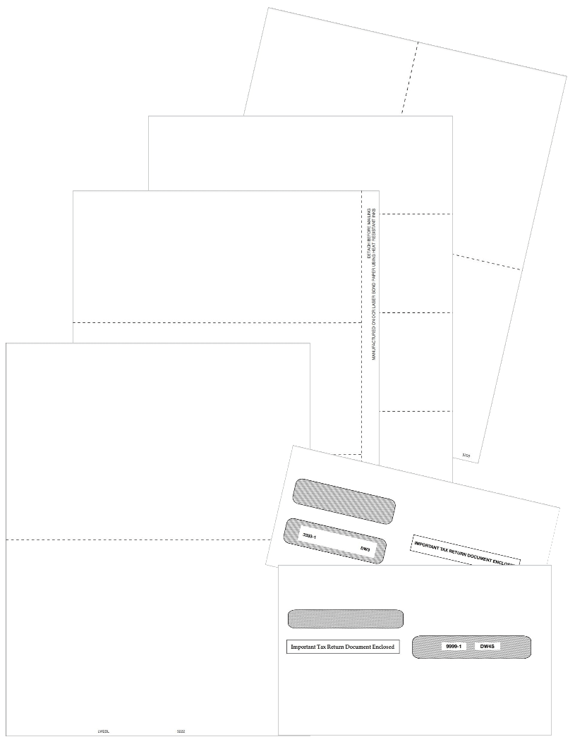 W2 Blank Perforated Paper and Envelopes for W2 Forms - DiscountTaxForms.com