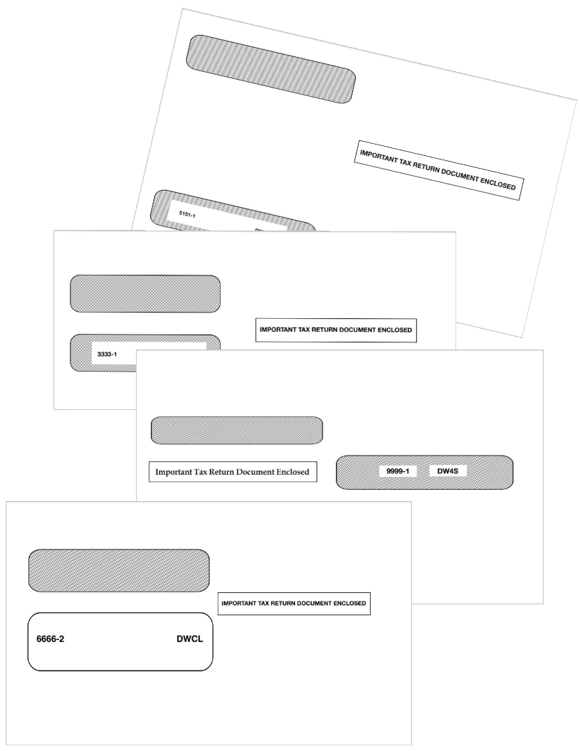 W2 Envelopes for Mailing Employee W2 Forms - DiscountTaxForms.com