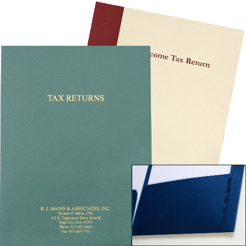 Expandable Tax Folders with Pocket for Large Documents - DiscountTaxForms.com